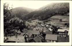 Foto Ak Gießübel Schleusegrund Thüringer Wald, Totalansicht vom Ort