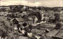 Postcard Ummerstadt Thüringen, Totalansicht der Stadt, Häuser, Gärten