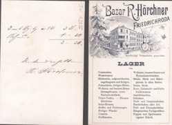 Klapp Ak Friedrichroda im Thüringer Wald, Bazar R. Hörchner, Landkarte
