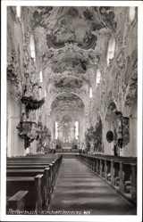 Foto Ak Rottenbuch Oberbayern, Inneres der Pfarrkirche Mariä Geburt
