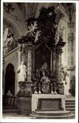 Foto Ak Rottenbuch Oberbayern, Marienaltar in der Pfarrkirche Mariä Geburt