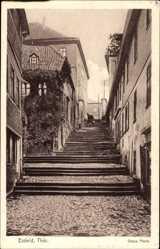 Postcard Eisfeld in Thüringen, Blick auf die Treppen der Oberen Pforte