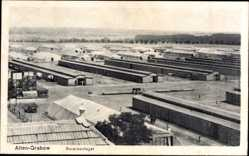 Postcard Altengrabow Möckern, Blick auf den Truppenübungsplatz, Baracken