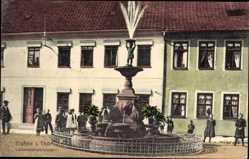 Postcard Eisfeld in Thüringen, Blick auf den Lobensteinbrunnen