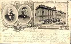 Postcard Bad Wörishofen im schwäbischen Kreis Unterallgäu, Dr Baumgarten,Prälat Kneipp