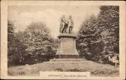 Postcard Katowice Kattowitz Schlesien, Zwei Kaiser Denkmal