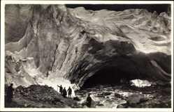 Postcard Norwegen, Briksdalsbreen, Gletscher, Bergsteiger