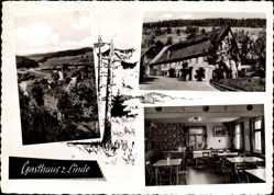 Postcard Loßburg im Kreis Freudenstadt, Gasthaus zur Linde, Fam. Bühner und Stein