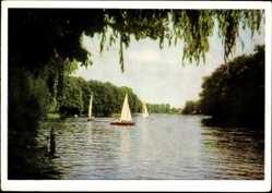 Ak Königs Wusterhausen in Brandenburg, Krimmick See in der Mark, Segelboote