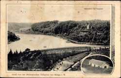 Postcard Milspe Ennepetal in Westfalen, Heilenbecker Talsperre, Sperrmauer