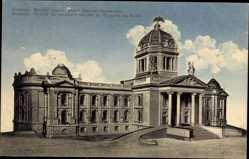 Postcard Belgrad Beograd Serbien, Modele du parlament national du Royaume de Serbie