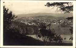 Postcard Jelenia Góra Hirschberg Schlesien, Riesengebirge, Totalansicht der Ortschaft
