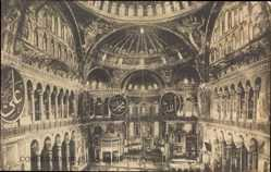 Postcard Konstantinopel Istanbul Türkei, Hagia Sophia, Innenansicht,Ste. Sophie