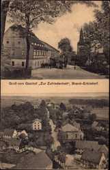 Postcard Brand Erbisdorf im Kreis Mittelsachsen, Gasthof zur Zufriedenheit, Totale