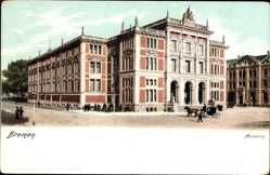 Ak Hansestadt Bremen, Straßenpartie mit Blick auf das Museum, Kutsche