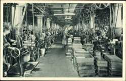 Postcard Wittenberge in der Prignitz, Singer Nähmaschinen, Stahlfräserei