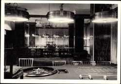 Postcard Westerland auf Sylt, Großer Spielsaal, Roulettetisch, Innenansicht
