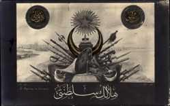 Künstler Ak Türkei, Le Royaume du Croissant, Osmanien, 799, Halbmond