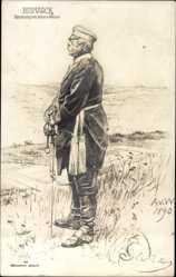 Künstler Ak v. Werner, Anton, Fürst Otto von Bismarck, Wohlfahrt