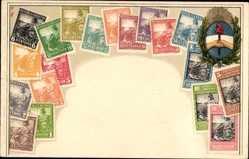 Briefmarken Litho Argentinien, Republica Argentina, 15 Centavos