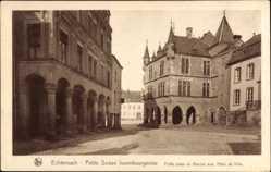 Postcard Echternach Luxemburg, Petite Suisse luxembourgeoise, Hotel de Ville