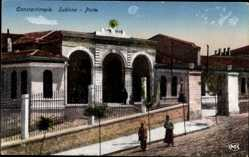 Postcard Konstantinopel Istanbul Türkei, Sublime, Porte, Eingangstor, Straßenpartie