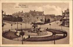 Postcard Den Haag Südholland Niederlande, Juliana v. Stolbergplein, Platz, Fontäne