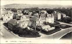Ak Cabourg Calvados, Vue générale, Vogelschau auf den Ort, Gewächshaus
