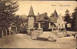Postcard Sinaia Rumänien, Corpul de Garda, Schloss, Turm, Freitreppe