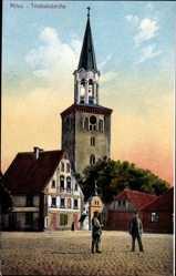 Postcard Jelgava Mitau Lettland, Ansicht der Trinitatiskirche, Glockenturm