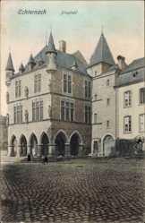 Postcard Echternach Luxemburg, Dingstuhl, Gebäude, Arkaden