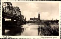 Postcard Tilsit Sowetsk Kaliningrad Ostpreußen, Blick vom Brückenkopf aus