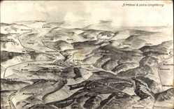 Landkarten Ak St. Mihiel Meuse, Wald von Apremont, Ailly, Brasseitte, Maas