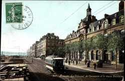 Postcard Rouen Seine Maritime, Le Tribunal de Commerce et le cours Boieldieu