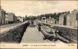 Ak Amiens Somme, Le Canal de la Somme, les Ecluses, Schleuse
