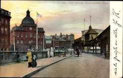 Postcard Charlestown Massachusetts USA, City Square, Platz