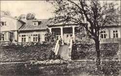 Postcard Dobele Doblen Lettland, Blick auf ein Haus, Treppe, Eingang