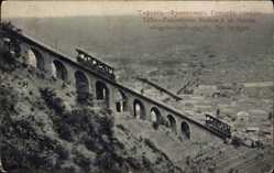 Postcard Tiflis Georgien, Funiculaire, Station a mi chemin, Standseilbahn, Ort