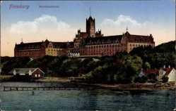 Postcard Flensburg in Schleswig Holstein, Blick auf die Marineschule