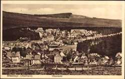 Postcard Braunlage im Oberharz, Blick auf das Villenviertel mit Umgebung