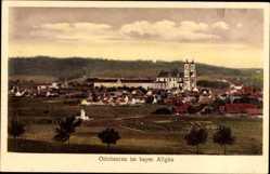 Postcard Ottobeuren im schwäbischen Kreis Unterallgäu, Blick auf den Ort