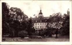 Postcard Sonnewalde in der Niederlausitz, Blick vom Park auf das Schloss