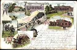 Litho Loburg Möckern in Sachsen Anhalt, Truppenübungsplatz, Barackenlager