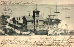 Postcard Kiel in Schleswig Holstein, Seegarten und Kriegshafen