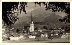 Foto Ak Prien am Chiemsee Oberbayern, Blick auf den Ort und die Umgebung