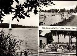 Postcard Kleinsaubernitz Malschwitz, Erholungszentrum Olba See, Freibad