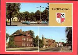 Wappen Ak Großräschen Niederlausitz, Markt, Rathaus, Ernst Thälmann Straße