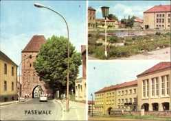 Postcard Pasewalk in Mecklenburg Vorpommern, Prenzlauer Tor, E. Thälmann Platz