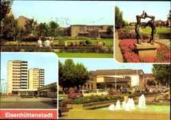 Postcard Eisenhüttenstadt in Brandenburg, Wohnkomplex, Str. d. Republik, Leninallee