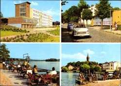Postcard Feldberg Feldberger Seenlandschaft, FDGB Erholungsheim Freundschaft, Trabbi